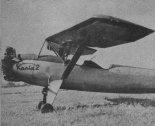 """Przednia część samolotu """"Kania 2"""". (Źródło: Skrzydlata Polska nr 40/1957)."""