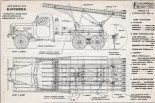 BM-13, plany modelarskie. (Źródło: Modelarz nr 5/1965).
