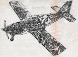 """Przekrój perspektywiczny samolotu Robin HR.100 """"Tiara"""". (Źródło: Aviation Magazine via Skrzydlata polska nr 4/1975)."""