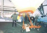 """Samolot Eipper Aircraft """"Quicksilver"""" zakupiony przez Janusza Kowalika. (Źródło: Copyright Janusz Kowalik)."""