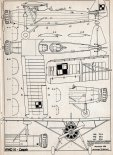 """RWD-14 """"Czapla"""", plany modelarskie. (Źródło: Modelarz nr 7/1969)."""