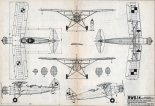 """RWD-14 """"Czapla"""", plany modelarskie. (Źródło: Modelarz nr 4/1978)."""