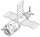 Stacja kosmiczna Salut-6. (Źródło: NASA).
