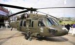 """Śmigłowiec Sikorsky S-70 """"Black Hawk"""", wyprodukowany przez PZL Mielec, na XVIII MSPiO w Kielcach w 2010 r. (Źródło: Copyright  Tomasz Hens)."""