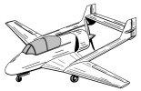 """Projekt samolotu szkolno-treningowego """"Bies""""- wariant III.  (Źródło: rys. Krzysztof Luto)."""