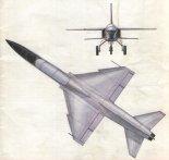 """Jednosilnikowa wersja TS-16RD """"Grot"""". (Źródło: Technika Lotnicza i Astronautyczna nr 7/1983)."""