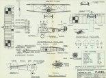 """Sopwith F1 """"Camel"""", plany modelarskie. (Źródło: Modelarz nr 2/1975)."""