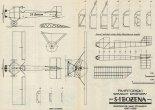 """S-1 """"Bożena"""", plany modelarskie. (Źródło: Modelarz nr 12/1976)."""