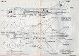 Suchoj Su-7B, plany modelarskie. (Źródło: Modelarz nr 2/1977).