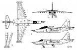 Suchoj Su-25, rysunek w trzech rzutach. (Źródło: Skrzydlata Polska nr 2/1990).