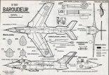 """Sud Est SE-5000 """"Baroudeur"""", plany modelarskie. (Źródło: Modelarz nr 11/1959)."""
