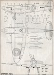 "Supermarine ""Spitfire"" Mk.Vb, plany modelarskie. (Źródło: Modelarz nr 7/1969)."