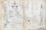 """Supermarine """"Spitfire"""" Mk.IXC, plany modelarskie. (Źródło: Modelarz nr 9/1970)."""