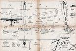 """IS-4 """"Jastrząb"""", plany modelarskie. (Źródło: Modelarz nr 3/1958)."""