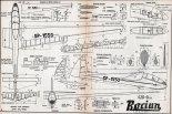 """SZD-9 bis """"Bocian"""", plany modelarskie. (Źródło: Modelarz nr 12/1958)."""