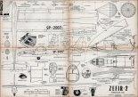"""SZD-19-2""""Zefir 2"""", plany modelarskie. (Źródło: Modelarz nr 3/1961)."""