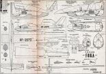 """SZD-24 """"Foka"""", plany modelarskie. (Źródło: Modelarz nr 8/1961)."""