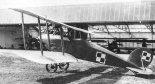 """Albatros C-XV po montażu na Stacji Lotniczej Ławica.  (Źródło: Morgała A. """"Samoloty wojskowe w Polsce 1918-1924"""")."""