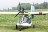 """Samolot TL-32 """"Typhoon"""" prezentowany podczas zawodów PPG w Pińczowie w 2002 r. (Źródło: Aleksander Dobrzański via Damian Lis)."""