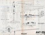 ANT-25. Plany modelarskie (Źródło: Modelarz nr 7/1978).