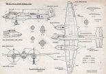 Tupolew Tu-2, plany modelarskie. (Źródło: Modelarz nr 1/1964).