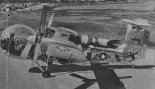 Vertol 76 ze skrzydłem w położeniu poziomym ustawianym w czasie lotu. (Źródło: Skrzydlata Polska nr 26/1957).
