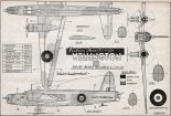 "Vickers Armstrong ""Wellington"" Mk.III, plany modelarskie. (Źródło: Modelarz nr 9/1957)."