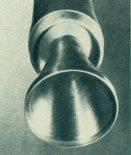 Dysza silnika S-4 pierwszego członu rakiety RD-42. (Źródło: Skrzydlata Polska nr 43/1963).