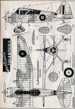 """Westland """"Lysander"""" Mk.II, plany modelarskie. (Źródło: Modelarz nr 4/1958)."""