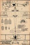 "Ansaldo A-1 ""Balilla"", plany modelarskie. (Źródło: Modelarz nr 8/1972)."