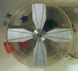 """Silnik spalinowy typu """"X"""" konstrukcji  Jerzego Woźniaka. Kolejne fazy cyklu spalania. (Źródło: """"SILNIK  SPALINOWY TYPU"""