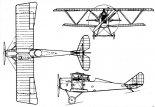 SVA-5, rysunek w trzech rzutach. (Źródło: via Sławomir Kin).