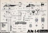 """Antonow An-14 """"Pszczółka"""", plany modelarskie. (Źródło: Modelarz nr 2/1961)."""