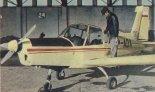Samolot Zlin Z-42M (SP-ADA) w Aeroklubie Białostockim. (Źródło: Skrzydlata Polska nr 13/1976).
