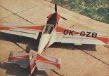 Samolot Zlin 50L, widok z góry. (Źródło: Skrzydlata Polska nr 23/1976).
