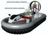 """Schemat układu napędowego Airslide H37. (Źródło: """"PODUSZKOWCE AIRSLIDE"""")."""