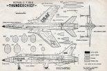 "Republic F-105B ""Thunderchief"", plany modelarskie. (Źródło: Modelarz nr 4/1959)."