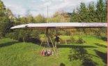 Ogólny widok lotni z napędem i uprzężą.  (Źródło: Bogdan Szwarc- Lotnictwo Ultralekkie i Sportowe nr 5/2005 via Damian Lis).