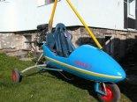 """Wózek motolotniowy Sznapka """"Grand 2000"""" napędzany silnikiem Honda CBR. (Źródło: archiwum)."""