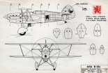 Avia B-534, plany modelarskie. (Źródło: Modelarz nr 6/1968).