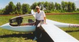 """Konstruktor i jego """"Egret"""". (Źródło: Przegląd Lotniczy Aviation Revue nr 1/2001)."""