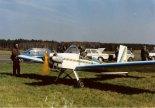 """Przygotowania do startu. VP-2 """"Volksplane""""  pierwsza wersa z 1991 r.  (Źródło: Copyright Jerzy Adamiec)."""