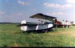 """Samolot amatorski Gorszczyński Croses EC-3 """"Pou Plume""""  na Zlocie Konstrukcji Amatorskich w Oleśnicy. (Źródło: Copyright Jacek Waszczuk)."""