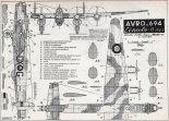 "Avro 694 ""Lincoln"" B Mk. I, plany modelarskie. (Źródło: Modelarz nr 3/1960)."