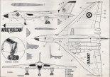 "Avro ""Vulcan"" B Mk.1, plany modelarskie. (Źródło: Modelarz nr 3/1962)."