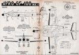 "Avro Canada CF-100 ""Canuck"" Mk. IV, plany modelarskie. (Źródło: Modelarz nr 5/1958)."