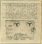 Fragment koperty i listu do żony nadesłanego przez kpt. Babińskiego z obozu w Kozielsku w 1939 r. (Źródło: Skrzydlata Polska nr 8/1990).