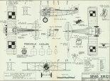 SPAD S-XIIIC1, plany modelarskie. (Źródło: Modelarz nr 4/1974).
