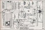 Blériot SPAD S-61C1, plany modelarskie. (Źródło: Modelarz nr 6/1956).