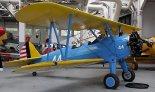 """Samolot Boeing PT-17 """"Kaydet"""" w zbiorach Imperial War Museum Duxford. (Źródło: Copyright Jarosław Chęciński- """"Airliners.net"""")."""